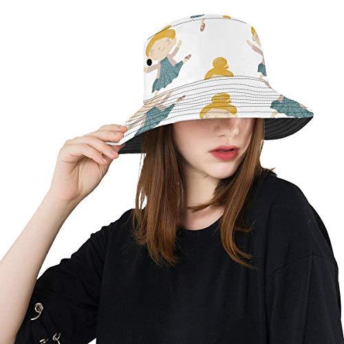 Bailarina Beuty Vestido de Colores Verano Unisex Pesca Sol Sombreros Bucket para...