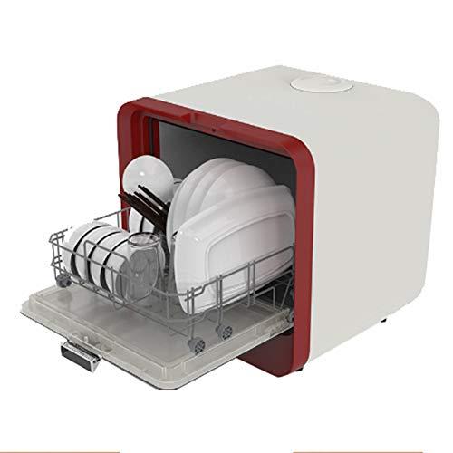 Smart dishwasher XGG Lavavajillas De Sobremesa, Lavavajillas MultifuncióN, Lavado RáPido De 30 Minutos, Cuatro Funciones, FáCil De Instalar, Capacidad De Comida De 4 Juegos