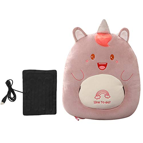 JBTM Electric Foot Warmer Winter USB Foot Heating Cushion Washable Heated Foot Pad for Home School Office Dormitory Xmas Christmas,Pink