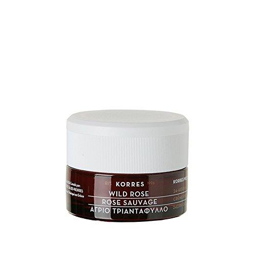 Korres Wild Rose 24-Stunden-Feuchtigkeitscreme für normale und trockene Haut, 1er Pack (1 x 40 ml)