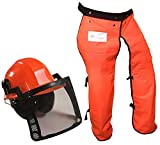 Forester Chain Saw Safety Chaps 35' Leg Plus Deluxe Safety Helmet