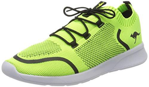 KangaROOS KF Weave Unisex-Kinder Sneaker, Gelb (Lime/Steel Grey 7021), 37 EU
