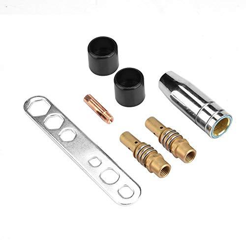 19Pcs溶接チップ 溶接機器アクセサリ セット 溶接トーチチップ 溶接コンタクトチップ 溶接ノズル 接触チップ 導電性ノズル 銅製 耐久性 15AKトーチガンに適用