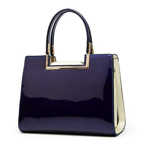 NIYUTA women Handbags Fashion High capacity patent leather casual Cross-Body Shoulder Top-Handle uk170 Blue