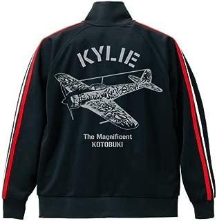 荒野のコトブキ飛行隊 キリエ ジャージ ブラック×ホワイト×レッド XLサイズ