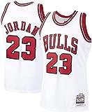 Chicago Bulls Michael Jordan #23 Basket Jersey Maglia Canotta,Maglia Swingman Ricamata, Stile di...