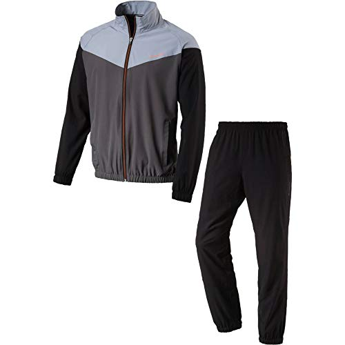 energetics Herren Präsentationsanzug Trainingsanzug FINLEY + FLO grau schwarz, Größe:29