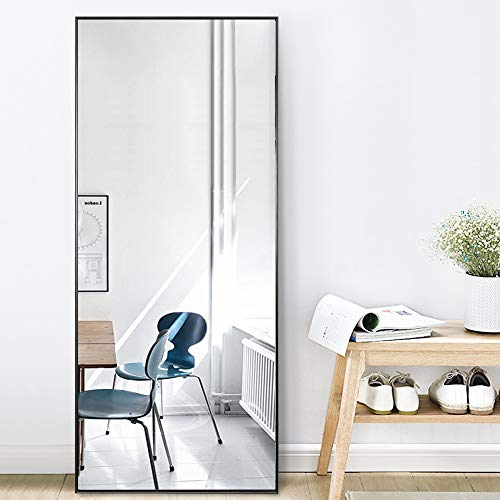 """PexFix Full Length Mirror Frameless Rectangle Beveled Edge Wall-Mounted Mirror Hanging Mirror Vertical and Horizontal for Dressing Bedroom Living Room Decor 59""""x16"""""""
