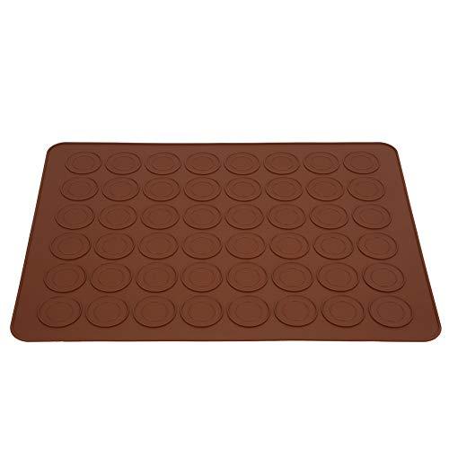 DaMohony Bandeja de silicona para hornear con 48 agujeros para macarrones, bandeja antiadherente para horno