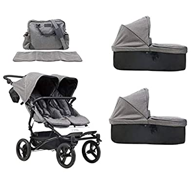 MB Duet V3 Luxury Collection - Carrito para gemelos + bolso cambiador + 2 capazos Carrycot - Herringbone