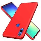 MTR Huawei Honor 8Xケース tpu シリコン 専用カバー薄型 指紋防止 精細ファイバー裏地 耐衝撃 柔らかい殻 Huawei Honor 8Xの保護カバー (赤)