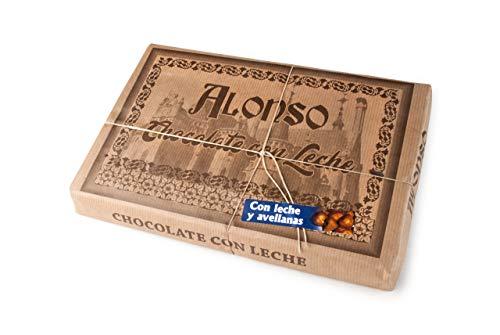 ALONSO - Chocolate CON LECHE y AVELLANAS - Tableta XXL 900 grs