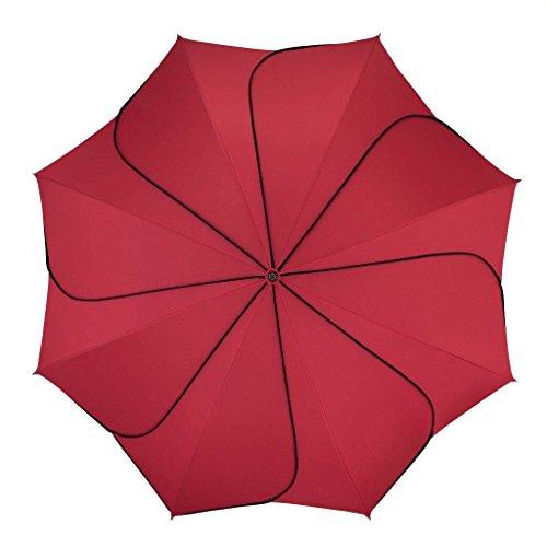 pierre cardin Regenschirm Taschenschirm Auf-Zu Automatik Sunflower rot
