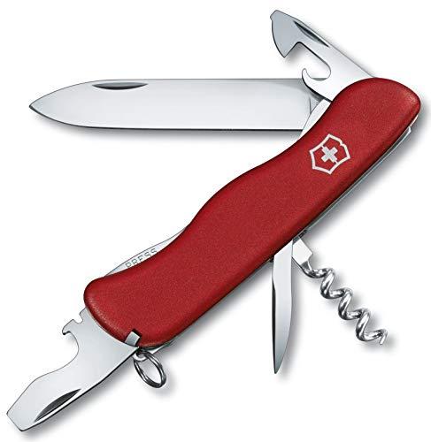 Victorinox Taschenmesser Picknicker (11 Funktionen, Grosse Feststellklinge, Schraubendreher) rot