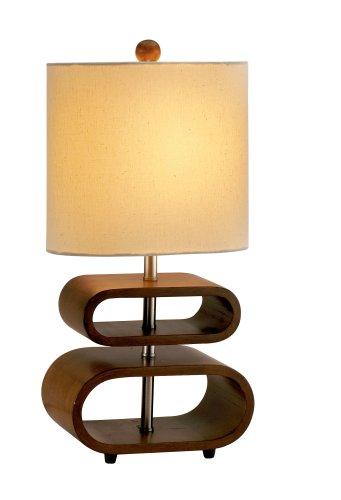 Walnut Metal Table Lamp - 7