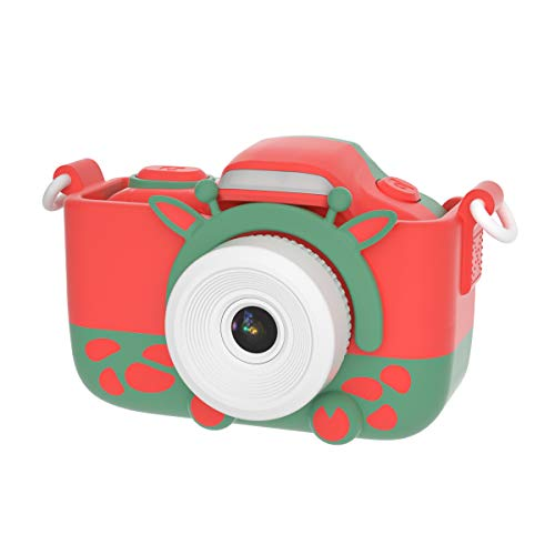 Joytrip Kids Camera for Girls Gifts HD 2.0 Inches Screen Kids Video Camera Anti-Drop Children Selfie Toy Camera Mini Cartoon Child Camcorder for 3-14-Year-Old with Soft Silicone Case (Christmas)