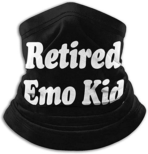 Retirado Emo Kid Unisex Microfibra cuello calentador a prueba de viento a prueba de polvo UV cuello Polaina bufanda ma-sk
