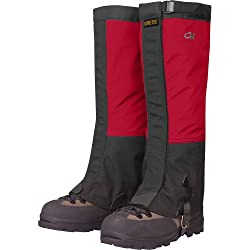 Outdoor Research Men's Crocodile Gaiters, X-Large, Chilli/Black