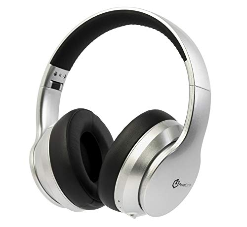 Wireless Bluetooth Headphones, PowerLocus Bluetooth Headphones Over Ear, Super Bass Hi-Fi Stereo, Soft Earmuffs, Foldable Wireless and Wired with Mic for Cell Phones, Online Class, Home Office, PC,TV
