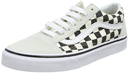 Vans Women's Closed-Toe Trainers, Off White Checkerboard White Black 27k, US:7