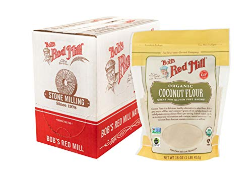 Bob's Red Mill Resealable Organic Coconut Flour, 16 Ounce (Pack of 4)