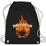 Shirtracer Feuerwehr - Feuer Flammen Firefighter - Unisize - Schwarz - jugendfeuerwehr - WM110 - Turnbeutel und Stoffbeutel aus Baumwolle