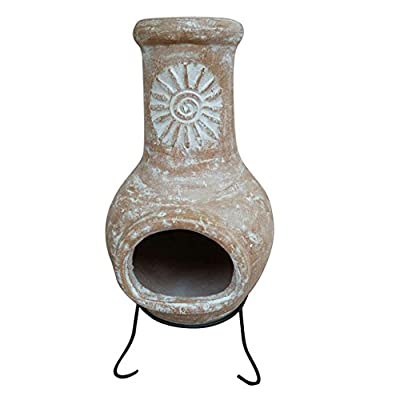 Charles Bentley Garden Outdoor Medium Natural Clay Chiminea Mexican Chiminea Patio Heater from Charles Bentley