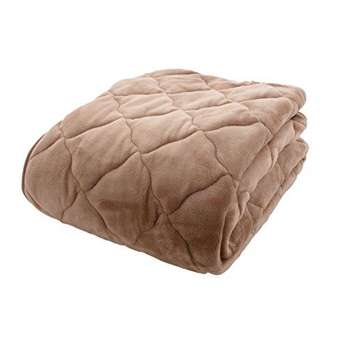 アイリスプラザ fondan 敷きパッド セミダブル プレミアムマイクロファイバー 洗える 静電気防止 クリスマス ギフト 特製BOX入り とろけるような肌触り エアコン対策 秋冬 ベッドパッド 品質保証書付 120×200cm 無地 モカベージュ