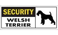 SECURITY WELSH TERRIER ワイドマグネットサイン:ウェルシュテリア Lサイズ