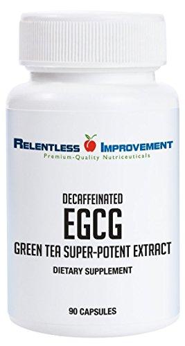 Relentless Improvement EGCG Green Tea Extract 670mg Extract Per Capsule Standardized to 98%+Polyphenols 60% EgCG Very Low Caffeine Zinc Ionophore