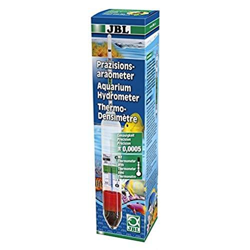 JBL Präzisions-Aräometer 6140800, Dichtemesser für Meerwasser-Aquarien, Mit Thermometer plus Meßgefäß