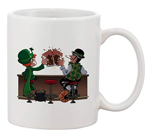 N\A Taza de café de cerámica - Amuleto para Beber irlandés y compañeros de Baloncesto