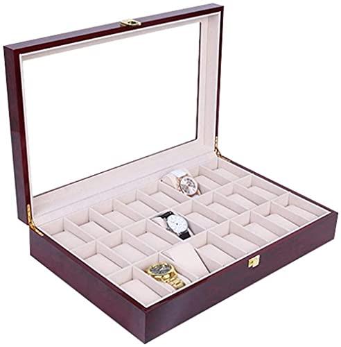 Caja de almacenamiento de reloj de alta gama pintura aerosol reloj caja de almacenamiento de madera caja de reloj de madera de alta gama caja de reloj