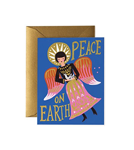Peace on Earth Angel Christmas Card Set by Rifle Paper Co. (GCX034B) -- Set of 8 Cards and Envelopes