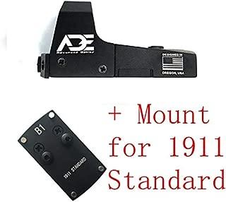 Ade Advanced Optics Mini RD3-006x Green Dot Reflex Sight for Colt 1911 Standard Pistol Mounting Plate That Replace Rear Sight