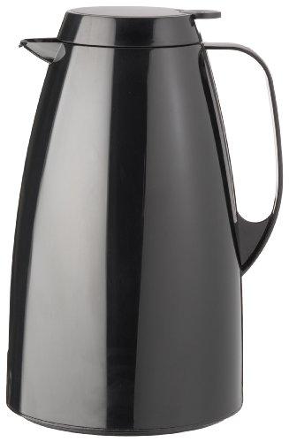 Emsa 505363 Isolierkanne, Thermoskanne, 1,5l Füllvolumen, Kaffeekanne, Quick Tip Verschluss, Basic in schwarz