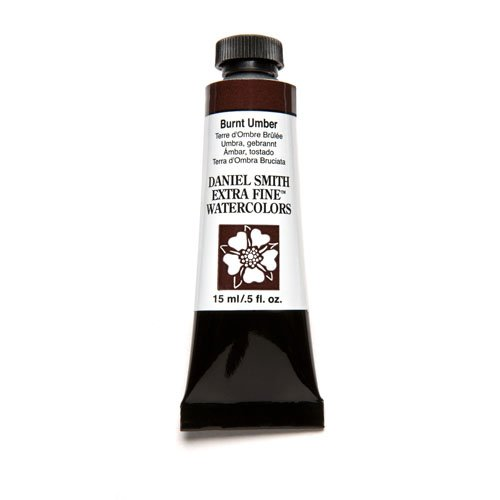 DANIEL SMITH 284600011 Extra Fine Watercolor 15ml Paint Tube, Burnt Umber