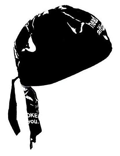 Rocker & Biker Bandana Cap (Schwarz & Weiß) - 2