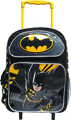 DC Comics Batman Roller Backpack Bat Man 16' Large Rolling Wheeled Bag Trolley