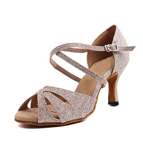 SUKUTU Zapatos Baile Latino Mujer Salón Baile Damas
