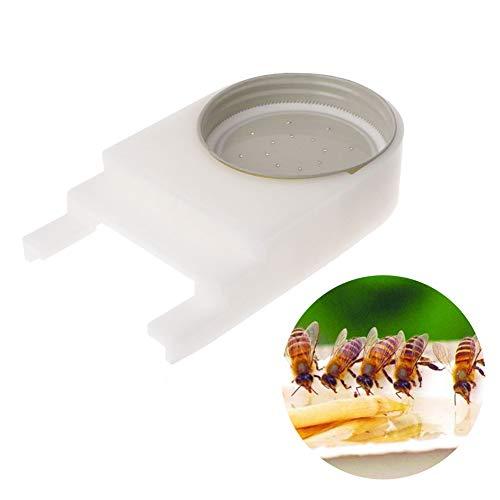 ySHtanj Bijenteelt gereedschap bij honing filter waterdispenser met gat deksel plastic suiker gereedschap dubbel scherm roestvrij staal apparatuur honingraat bijenfeeder water inlaat hydraterende levering imker - 2 Pack