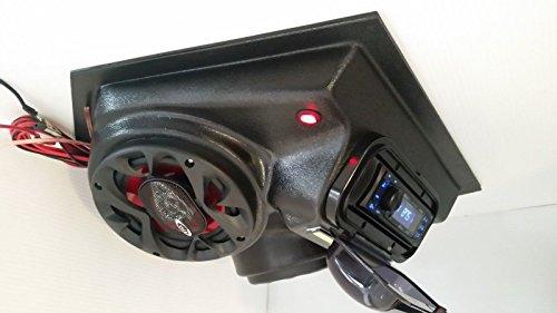 New! Overhead Stereo Radio Console UTV Polaris RZR Ranger General 6.5' Speakers!