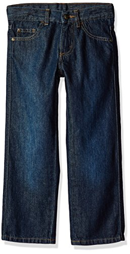Wrangler Authentics Boys' Relaxed Straight Jean, blackened blue, 5T