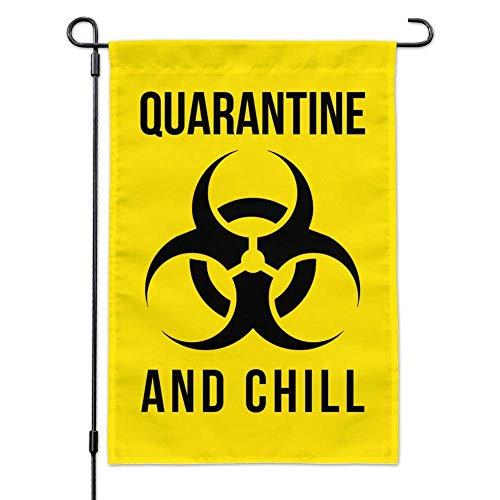 fuzes.f Biohazard Quarantine and Chill Garden Yard Flag