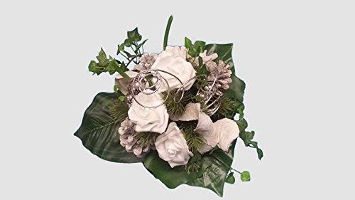 Grabstrauss Nr.6 Totensonntag, Allerheiligen, Grabschmuck, Gedenktag, Gesteck, Trauertage, stillem Gedenken, Trauer, Blumenstrauss aus Seidenblumen, Maße ca: 32 x 31 x 30 cm