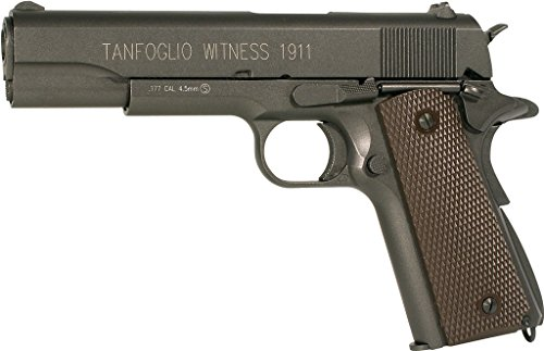 Tanfoglio Witness 1911 Full Metal Airgun .177 cal Pistol with Hop-Up and Blowback, 325 FPS