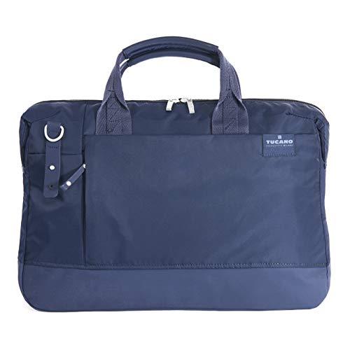 Tucano-Business Tasche für Laptop 15.6 Zoll und Macbook 15 Zoll, mit gepolstertet Innentasche für PC, iPad und Tablet. Aktentasche Dokumentenhalter für Laptop, Damen-Herren, verstellbarer Schultergurt