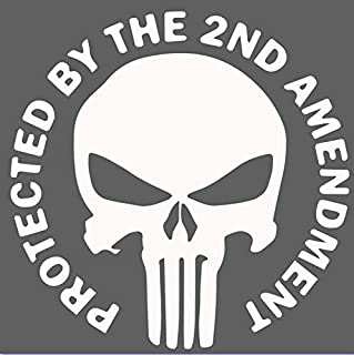 Protected by The 2nd Amendment - Punisher - Vinyl Decal Sticker - 5.5