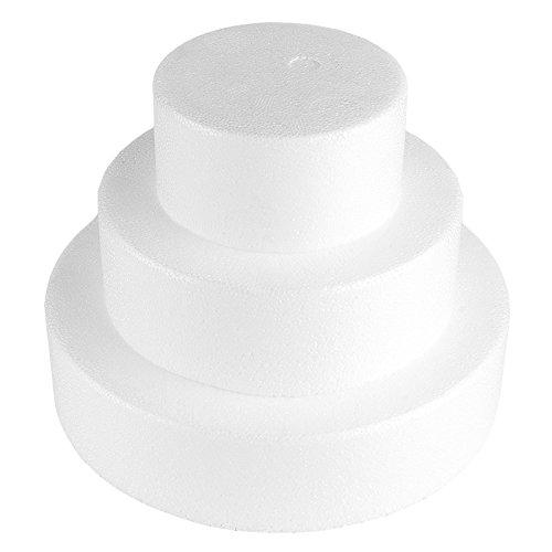 Styropor-Torte, bestehend aus Styropor-Podesten | Torten-Dummy | Kreative Geschenkidee zum Selberbasteln: Styroportorte, Süßigkeitentorte, Dekoration, Kuchen, DIY Bastelidee (3-stöckig)