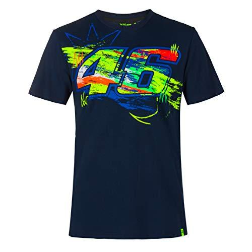 Valentino Rossi Collezione VR46 Classic, T-Shirt Uomo, Blu, L